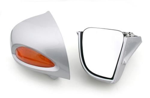 Rear Mirrors Turn Signals Lens Fit For BMW R1100RT R1100RTP R1150RT SIL
