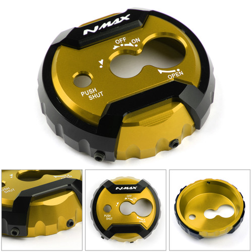 Ignition Switch Lock Cover Decal Key Starter Lock Cover Fit For Yamaha NMAX 125 150 155 2015-2019 GOLD
