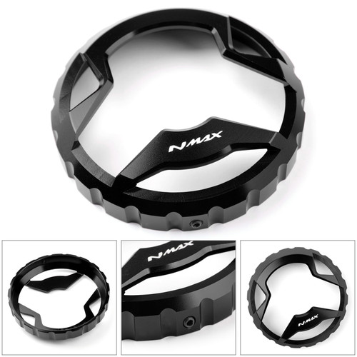 Fuel Gas Tank Cap Oil Tank Cover Decor Fit For Yamaha NMAX 125 150 155 2015 2016 2017 2018 2019 BLK