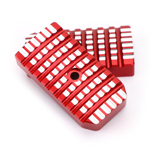 Aluminum Foot Pegs Footrests Covers Driver Pedal Fit For Honda Rebel CMX 500 300 2017-2021 Red