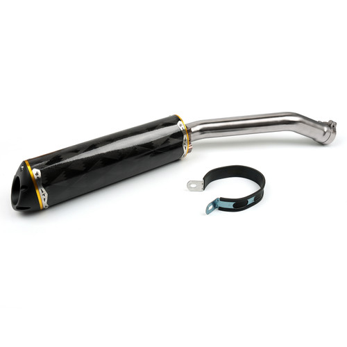 Carbon Fiber 2 Colors Exhaust Pipe Slip-On Muffler Fit For Kawasaki ZX-10R ZX10R NINJA 2008-2010 Gold