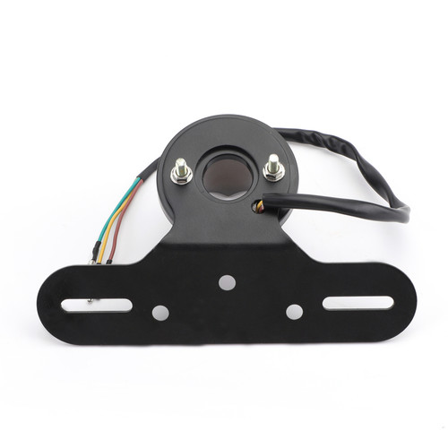 License Plate Holder LED Light Mount Bracket w/ taillight Fit For Most of Motorcycle Smoke