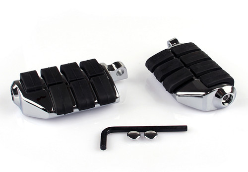 Dually Footpegs Fit For Harley Davidson Softail Sportster Road King Dyna Glide Electra Glide Night Train Fat Boy Low Rider V-Rod Deuce
