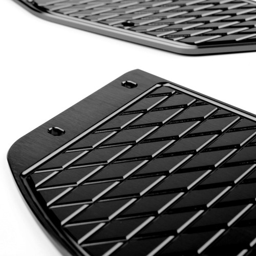 Foot Peg Plate Footrest Step Pad Mat Cover Fit For Yamaha XMAX 300 2017-2018 Black
