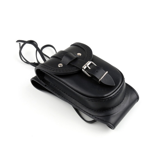 Leather Tank Panel Bag Fit For Harley Sportster Forty Eight 48 XL 1200X 4.5 Gallons Tank Black