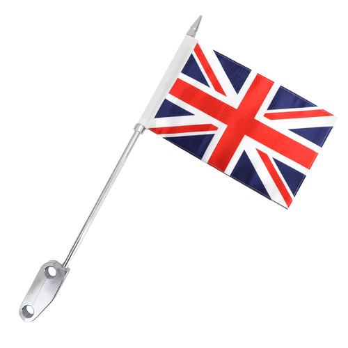 Britain Flag Pole Rear Luggage Rack Mount Fit For Harley Touring Electra Glide Chrome