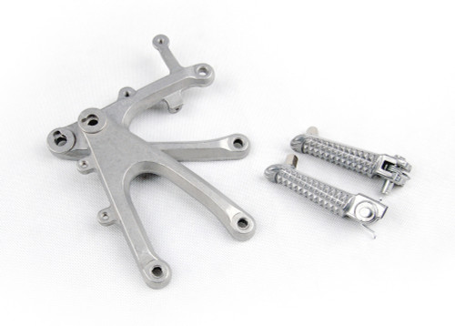 Front Footpegs Footrests Brackets Set Fit For Yamaha YZF R1 (2004-2006) 5VY-27442-01-00, 5VY-27443-01-00, 5VY-27410-00-00, 5VY-27420-00-00