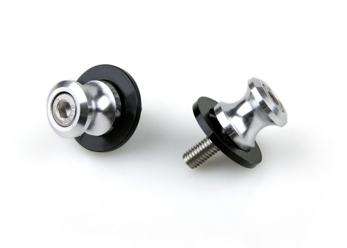 8mm Swingarm Sliders Spools Fit For Suzuki GSXR 600 750 1000 1300 Silver