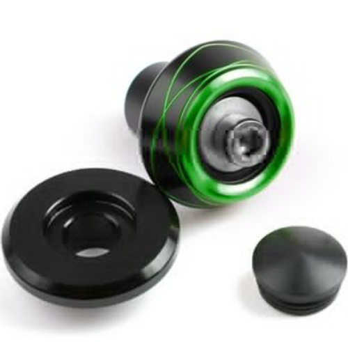 2pcs CNC Swingarm Spools Sliders Fit For Universal Motorcycle Starting Screw 6MM Green