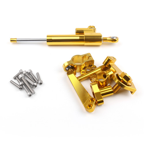Steering Damper Stabilizer Bracket Fit For Yamaha YZF-R3 (15) YZF-R25 (14-15) Gold