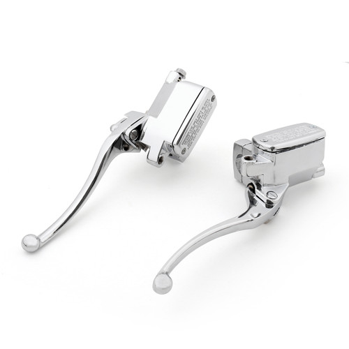 "1"" Brake Clutch Master Cylinder Reservoir Lever Fit For Honda VTX1800 (2002-2008) Chrome"