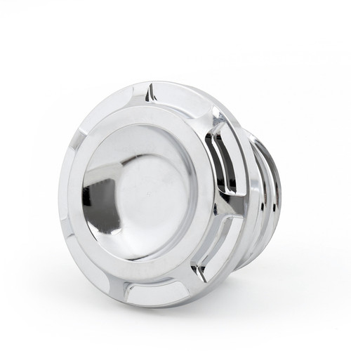 Aluminum Metal Fuel Gas Tank Oil Cap Cover Fit For Harley (1996-UP) Chrome