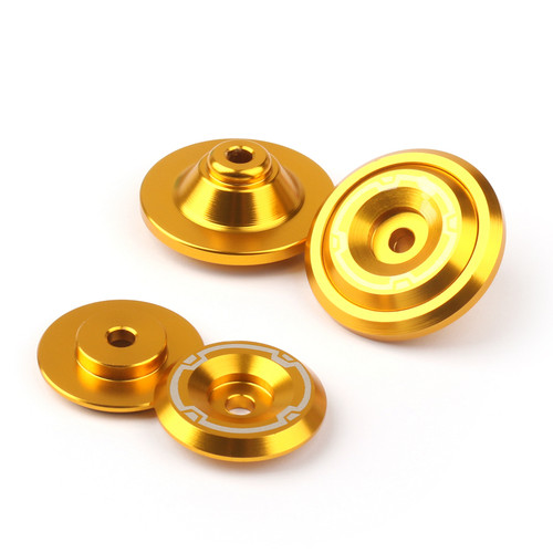 CNC Frame Hole Cover Page Hole Cap Cover Plug Bolt Kit Fit For Kawasaki Z900 (2017) Gold