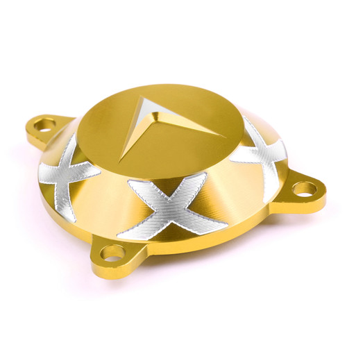 Aluminum Front Frame Hole Cover Drive Shaft Cover Cap Fit For KYMCO AK550 17-18 Gold
