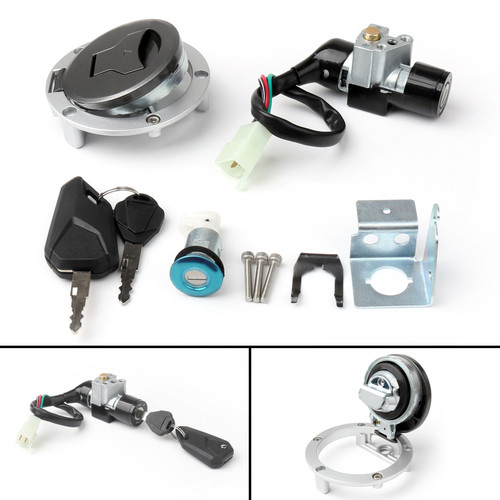 Ignition Switch Fuel Gas Cap Cover Key Lock Set Fit For Honda GROM MSX125SF (2016)