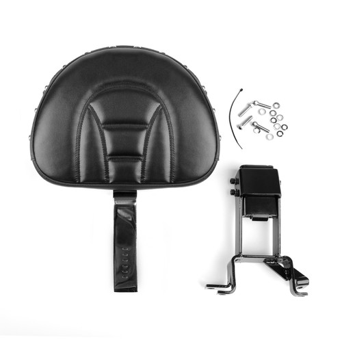 Plug-In Driver Nails Backrest + Mounting Kit Fit For Indian Chieftain 2014-18 Black