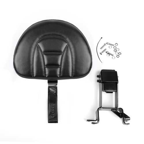 Plug-In Driver Backrest + Mounting Kit Fit For Indian Chief Chieftain 2014-18 Black