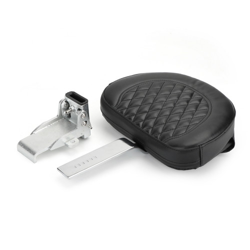 Driver Backrest Fit For Harley 10-19 models such as Dyna Sportster Touring Softail Victory High Ball 10-19 Chrome