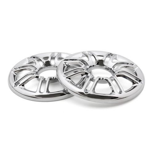 """Speaker Cover Grill 6"""" 3D Round Rear Front Fit For Harley Touring Glide 97-13 Chrome"""