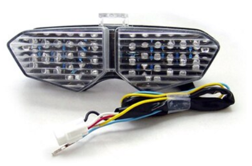 Integrated LED TailLight Turn Signals Fit For Yamaha YZF R6 2003-2005 YZF R6S 2006-2008 Clear