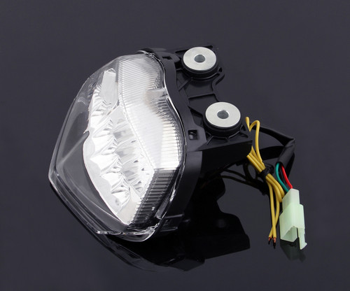 Integrated LED TailLight Turn Signals Fit For Kawasaki EX250/Ninja 250R 2008-2012 Clear