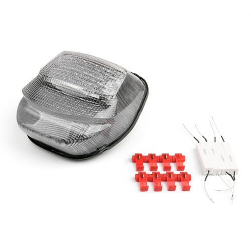 Tail Light with integrated Turn Signals Fit For Honda CBR 1100 XX (1999-2006), Clear