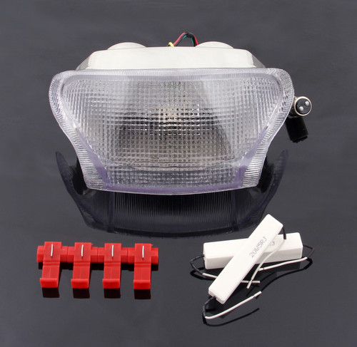 Taillight integrated Turn Signals Fit For Triumph Daytona 595 995 Speed Triple Clear