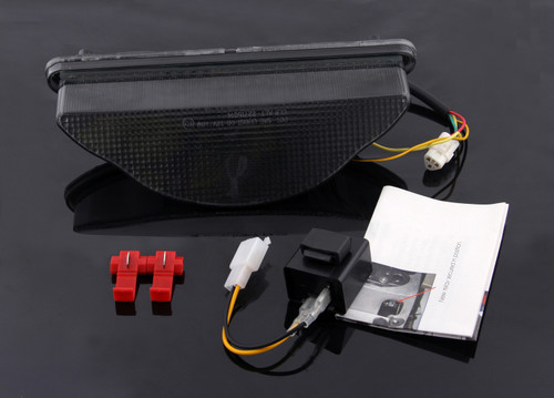 Tail Light with integrated Turn Signals Fit For Yamaha Warrior (2002-2008), Smoke
