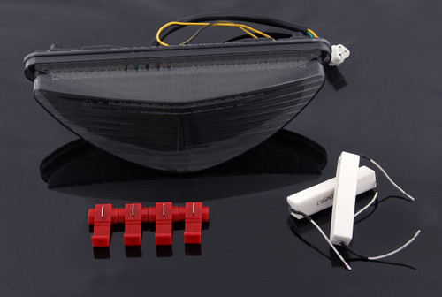 LED Taillight integrated Turn Signals Fit For Yamaha Raider 2008-2010 Smoke