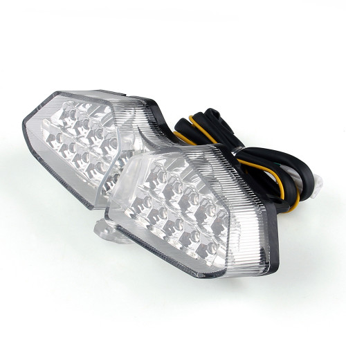 Integrated LED TailLight Turn Signals Fit For Yamaha XTZ 250X 2006-2009 Clear