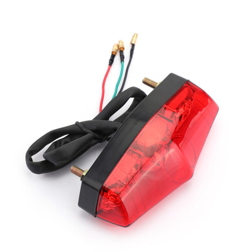 LED Brake Stop Running Rear Tail Light Lamp Fit For most of motorcycles Red