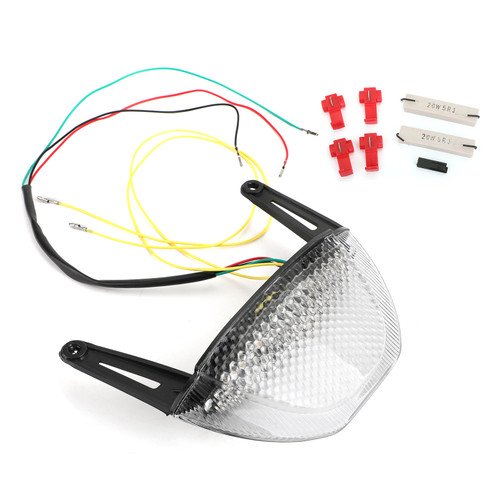 LED Rear Brake Turn Signals Taillight Fit For Honda CBR 600RR 2007-2012 Clear