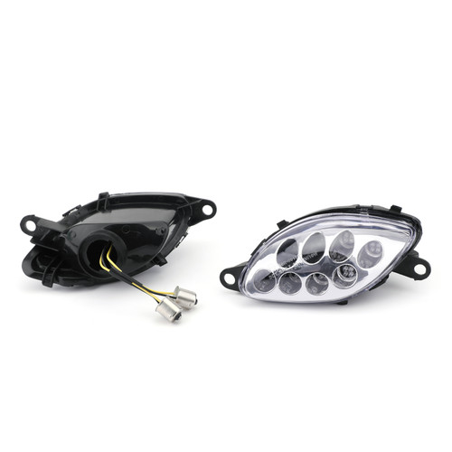 Front Indicators Flush Mount LED Turn Signals Fit For Suzuki Hayabusa GSX1300R (1999-2007), Clear