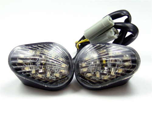 Clear Turn Signals Fit For Yamaha YZF R6 R6S Flush Mount 2003-2007, Clear