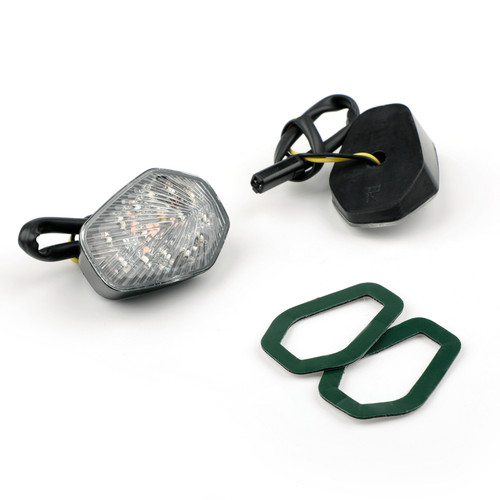 Clear Turn Signals Fit For Suzuki GSXR 600 750 1000 Flush Mount