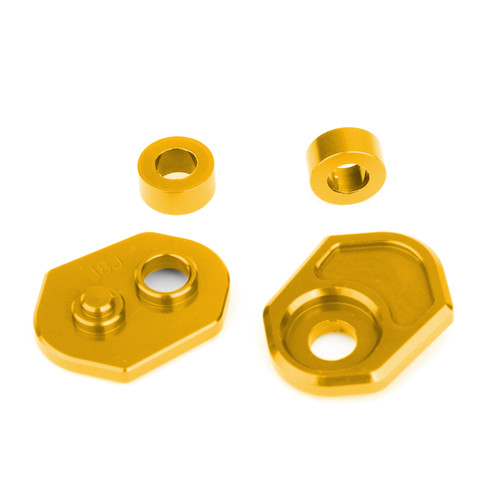 Aluminum Turn Signals Indicator Adapter Spacers Fit For Honda MSX125 13-15 MSX125SF 16-19 Gold