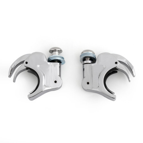 41mm Windshield Windscreen Clamps Fit For Harley Dyna Sportster XL 883 1200, Chrome