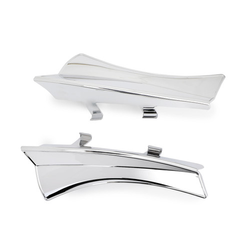 Saddle Heat Shield Air Deflectors Fit For Cross Country,Cross Country Tour & Magnum Models 10-16 Cross Roads Models 10-14 Hard-Ball 12-13 Chrome