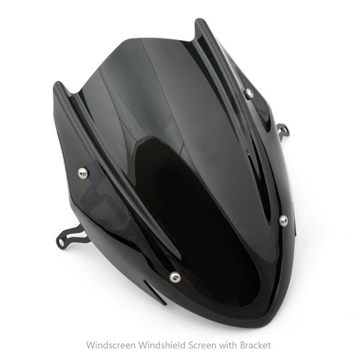 ABS Windscreen Windshield Screen with Bracket Fit For Suzuki GSX-S 750 2017 Black