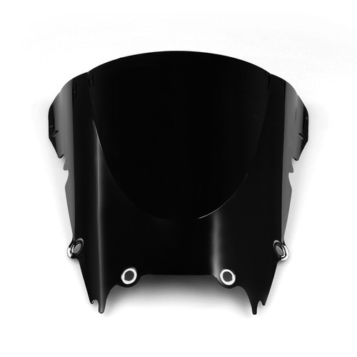 Windshield WindScreen Double Bubble Fit For Yamaha YZF R6 1998-2002 Black