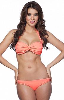 Coral Retro Knotty Bikini