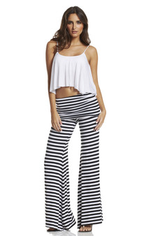 Striped Rollover Pants