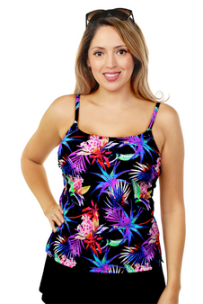 Mastectomy Thin Strap Tankini Top - More Colors Available!
