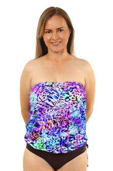 Bandeau Blouson Tankini Top - More Colors Available!
