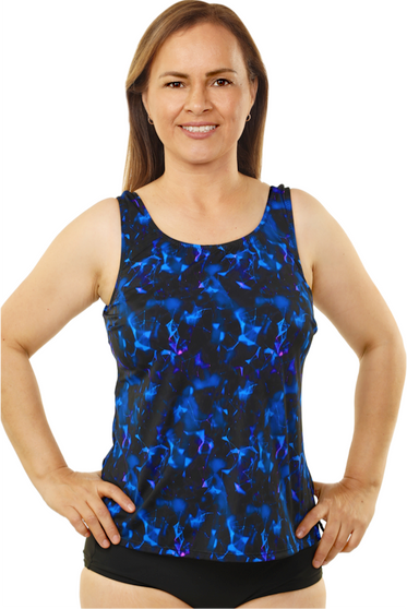 Mastectomy High Neck Tankini Top - More Colors Available!