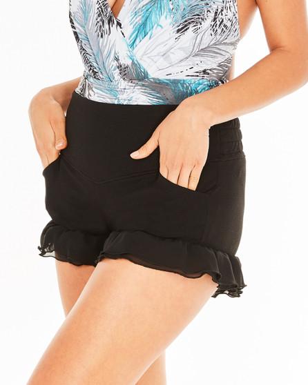 Ruffle Shorts - Black