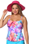 Thin Strap Tankini Top - Size 10 in Heavenly Hibiscus