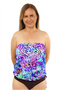 Bandeau Blouson Tankini Top - 2020 Collection!