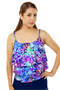 Mastectomy Triple Tier Tankini Top - More Colors Available!