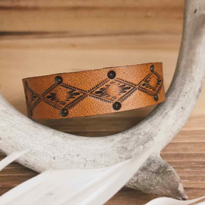 Crossroads Leather Bangle